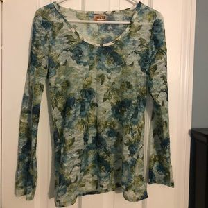 Mudd floral shear blouse